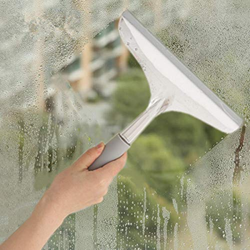TreeLen Shower Squeegee All Purpose Bathroom Squeegee Window Wiper with Good Grip Handle for Shower Doors Bathroom Windows Tiles Mirrors Cleaning
