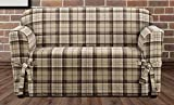 Sure Fit SF46426 Highland Plaid 1 Piece Loveseat Slipcover, Tan