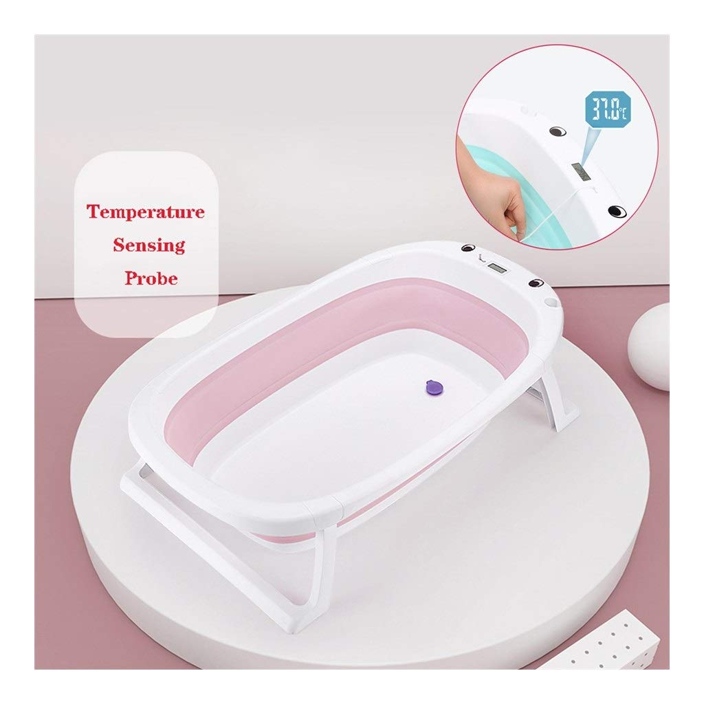 QBYLYG Portable Baby Bath Hypoallergenic Non-Slip Surface and Legs for Kids Safety   Bathing Made Easy and Portable by Foldable Technology (Color : Pink) by QBYLYG