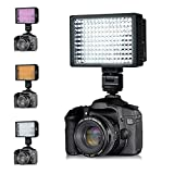 collee 160 LED HD-160 Dimmable Ultra High Power Panel Digital Camera / Camcorder Video Light, LED Light for Canon, Nikon, Pentax, Panasonic,SONY, Samsung and Olympus Digital SLR Cameras