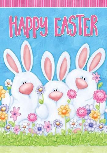 - Dtzzou Happy Easter Bunny Garden Flag 12