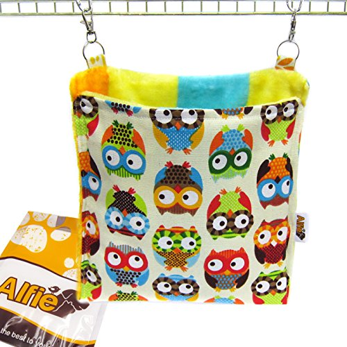 (Alfie Pet - Paisley Hanging Square Hideout for Small Animals Like Guinea Pig and Rabbit - Pattern: Owl)