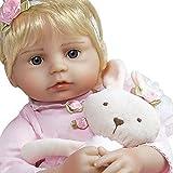 Paradise Galleries Reborn Toddler Ballerina Belle, Silicone Vinyl Baby Doll, 21 inch Blonde Hair Blue Eyes, 6-Piece Set