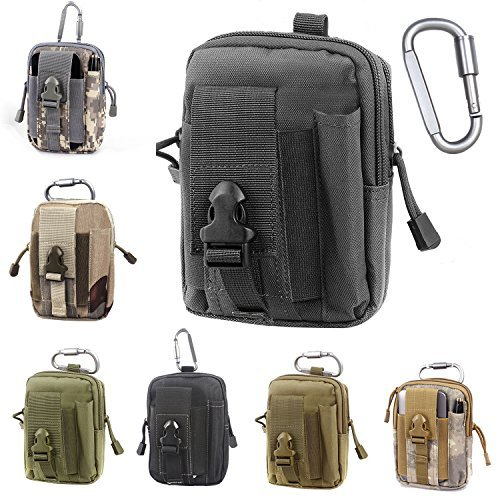 Tactical Molle EDC Pouch Compact 1000D Multipurpose Utility Gadget Belt Waist Bag with Cell Phone Holster Holder -