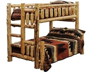Amazon Com Timberline Twin Queen Cedar Log Bunk Bed