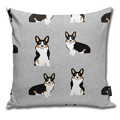 (shirt home Tri Corgi Dog - Pet Quilt E Dog, Dogs, Pet Quilt, Florals Comfortable Soft Bed Pillow Case Household Pillow Case Office Bolster 18x18 Inches)