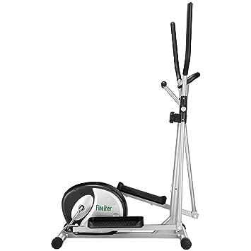 Finether - Bicicleta Elíptica Multifuncional, Bicicleta de ejercicios con pulso de mano, monitor de