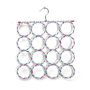 Sumersha Schal B/ügel Schalhalter Aufh/änger G/ürtelhalter Krawattenhalter mit 28 L/öchern f/ür Handtuch Schal Farbe Random