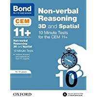 Bond 11+ CEM 3D Non-Verbal Reasoning 10 Minute Tests 10-11 Years
