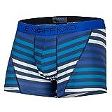 ExOfficio Give-N-Go Sport Mesh Boxer Brief - Men's Navy Large Stripe, XL