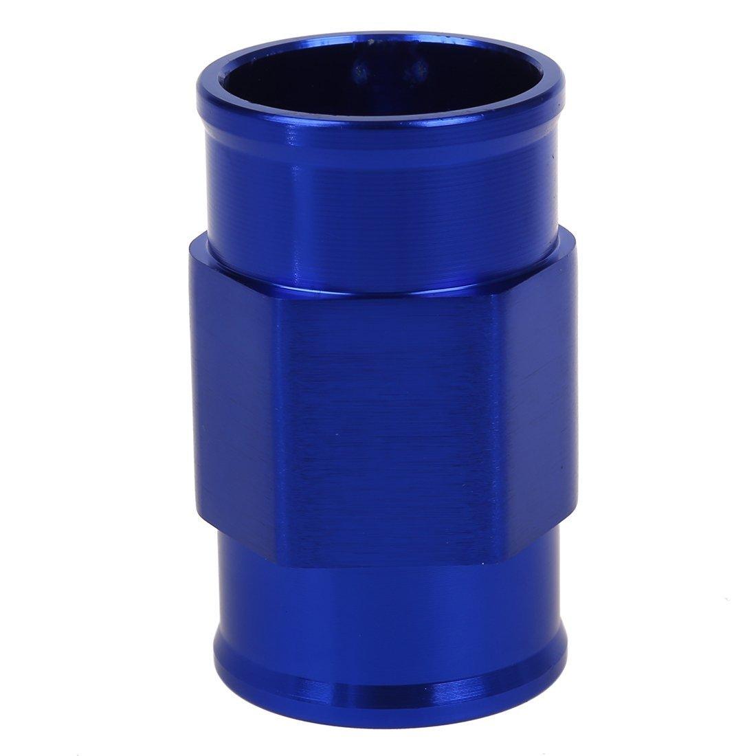 TOOGOO R Wassertemperatur Verbindungsrohr Sensor Messgeraete Kuehlerschlauch Adapter 40mm Blau Wassertemperatur Verbindungsrohr