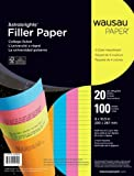 Astrobrights College Ruled Filler Paper – 8 x 10 1/2 – 20 pounds – 100 Sheets – 4 Bright Colors, Office Central