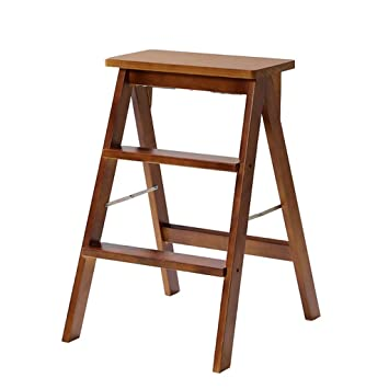 Admirable Amazon Com Step Stool Solid Wood Step Ladder Stool Best Image Libraries Thycampuscom