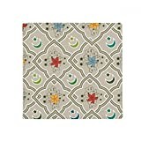 Pattern Flower Islam Muslim Anti-slip Floor Pet Mat Square Home Kitchen Door 80cm Gift