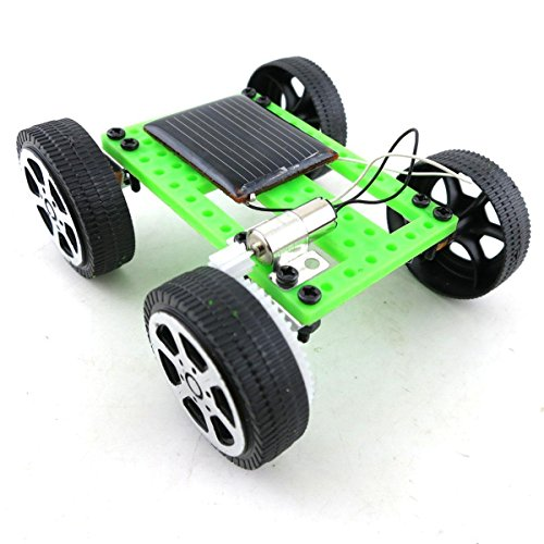 Exiron 2Pcs Mini Solar Toy DIY Car Children Educational Puzzle IQ Gadget Hobby Robot by Exiron