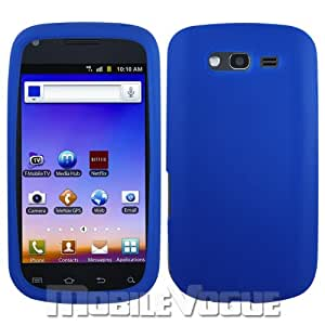 Samsung Blaze 4G T769 Blue Silicone Skin Protector Cover Case