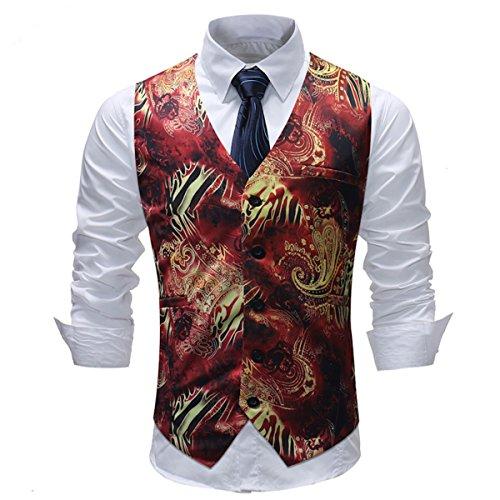 Pour Orange Gilet Homme Slim Mariage Casual Fit Costume Allthemen De 7nXAzS4xAq