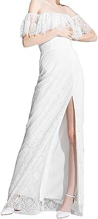 Deerhobbes - Vestido de novia estilo bohemio con accesorios