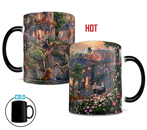 - Disney Thomas Kinkade - Lady and the Tramp - Morphing Mugs Heat Sensitive Mug - Color changing ceramic mug
