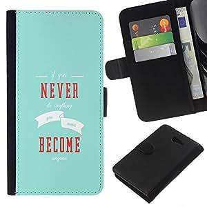 KLONGSHOP // Tirón de la caja Cartera de cuero con ranuras para tarjetas - Si nunca hace nada - Sony Xperia M2 //
