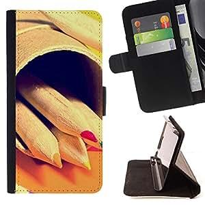 Jordan Colourful Shop - Design Crayon Pencils Hipster For HTC DESIRE 816 - < Leather Case Absorci????n cubierta de la caja de alto impacto > -