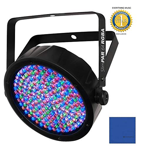 Chauvet DJ SlimPAR 64 RGBA LED PAR Wash Light with 1 Year Free Extended Warranty ()