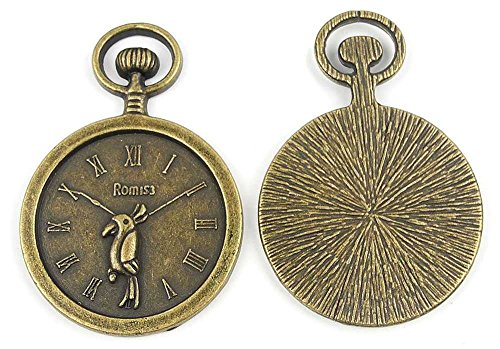 (20x Anti-Brass Fashion Jewelry Making Charms A1976 Parrot Pocket Watch Wholesale Supplies Pendant Craft DIY Vintage Alloys Necklace Bulk Supply Findings)