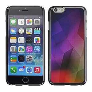 Cubierta de la caja de protección la piel dura para el Apple iPhone 6 (4.7) - geometrical structure modern art colorful