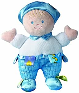 """Taggies 8"""" Developmental Baby Doll, Blue Boy (Discontinued by Manufacturer)"""