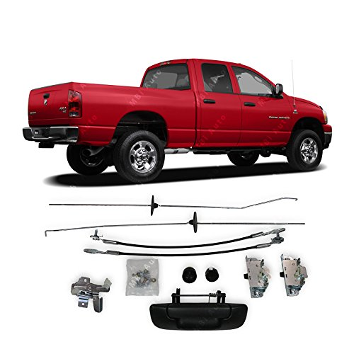 MBI AUTO - Complete Tailgate Hardware Kit/Set Straps, Handle, Latches, Rods for 2002-2009 Dodge RAM Pickup 02-09, CH1900121