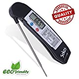 iMallCoo Quick Read Digital Cooking Thermometer with LCD Screen, Black
