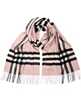 Burberry Women's Classic Cashmere Scarf in Check Pink