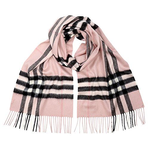Burberry Women's Classic Cashmere Scarf in Check Pink by BURBERRY
