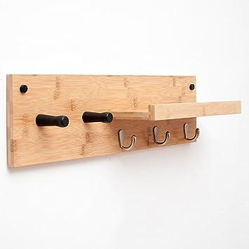 Yang baby Percheros con perchas de pared con estante de ...