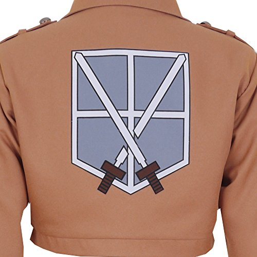 CG Costume Men's Attack on Titan Training Corps Jacket Cosplay Costume XLarge