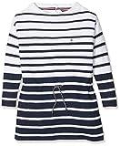 Tommy Hilfiger Girl's Stripe Sweater Dress L/s, Blue (Black Iris/Bright White 901), 140 (Size: 10)