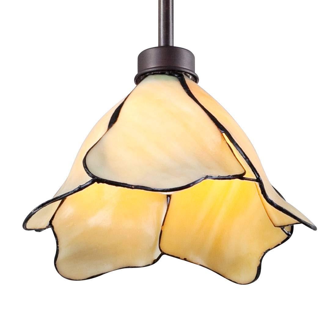 """Petals 1-Light 8"""" Wide Tiffany Style Glass Mini Pendant - Possini Euro Design"""