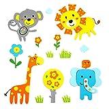 Skygate 14 Count Premium Safari Animals-1 3D Foam Stickers