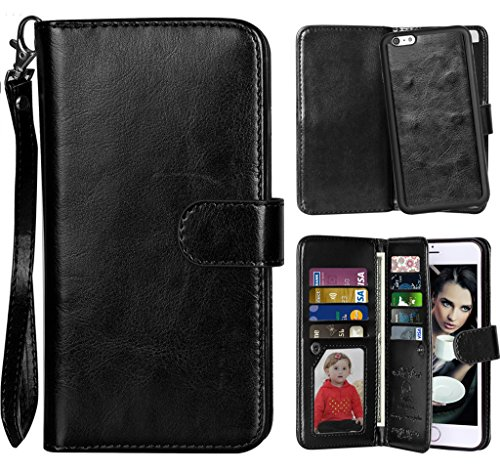 hot sale online 7c671 e7c47 iPhone 6 Case, Vofolen 2 in 1 iPhone 6S Case Wallet Folio Flip PU ...