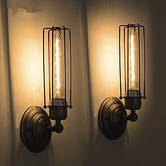 Anbiratlesn Modern Wandleuchten E27 Antik Wandlampe Vintage Rustikal ...