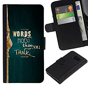 All Phone Most Case / Oferta Especial Cáscara Funda de cuero Monedero Cubierta de proteccion Caso / Wallet Case for Samsung Galaxy S6 // More Than You Think