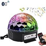 YouOKLight 6 Color RGB LED Music Crystal Magic Ball Effect Light MP3 USB Disco DJ Stage Lighting+Remote Control+Bluetooth Control AC 100-240V