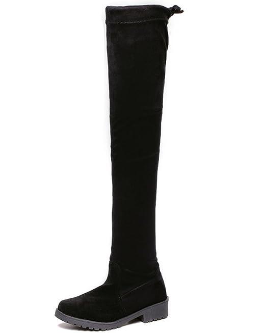 Minetom Mujer Otoño Nuevo Moda Apretado Esbelto Overknee Botas Elástico Boots Largas Botas: Amazon.es: Ropa y accesorios