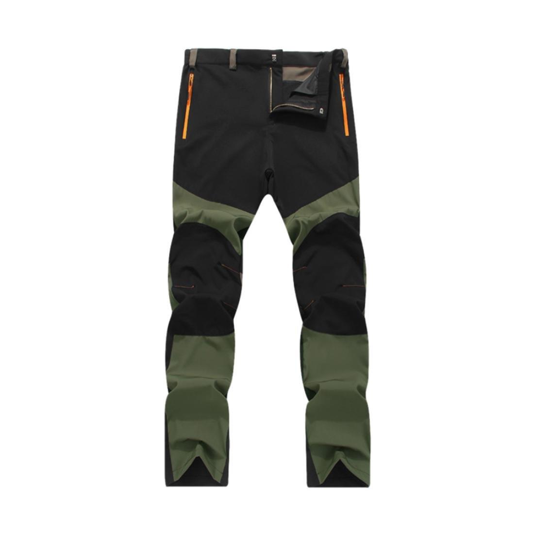 Pantalones de hombre Impermeable A prueba de viento Al aire libre Excursionismo Alpinismo Deportes Calentar Invierno Grueso Táctico Pantalones LMMVP (L, ...