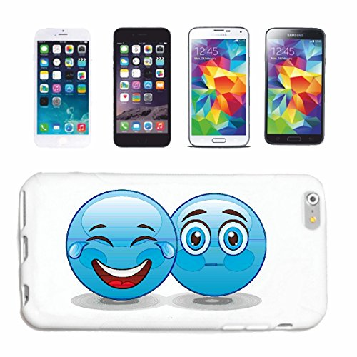 "cas de téléphone iPhone 7+ Plus ""TWO LOVERS BLEU SMILEYS ""sourire EMOTICON sa SMILEYS SMILIES ANDROID IPHONE EMOTICONS IOS APP"" Hard Case Cover Téléphone Covers Smart Cover pour Apple iPhone en blanc"