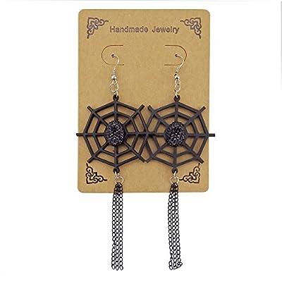 ALoveSoul Halloween Spider Web Earrings - Scary Halloween Costume Horror Gothic Punk Vampire Earring