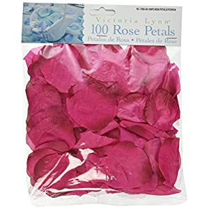 Darice RC-7209-94 Decorative Satin Loose Rose Petals, Fuschia, 100-Pack 22