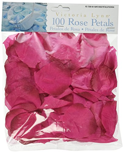 Darice RC-7209-94 Decorative Satin Loose Rose Petals, Fuschia, 100-Pack