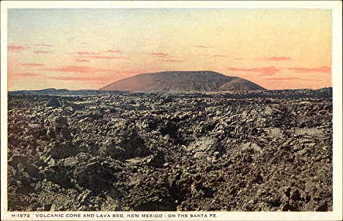Volcanic Cone and Lava Bed, New Mexico - on the Santa Fe Grants Original Vintage -