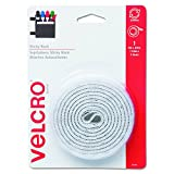 "Velcro 90087 Sticky-Back Hook & Loop Fastener Tape with Dispenser, 3/4"" x 5ft Roll, White"